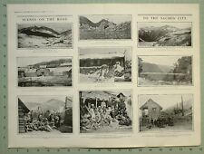 1903 Estampado Thibet Expedition Mercado Colocar Padong Thibetans Lepekas Fuerte