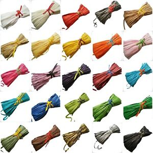 Raffia Paper Ribbon bundles 10m to 100 meter decorating gifts crafts scrapbooks