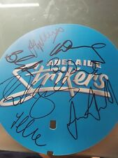 PERSONALLY SIGNED ADELAIDE STRIKERS FLAG 7 AUTOGRAPHS