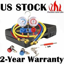 R134A, R12, R22, R502 AC HVAC Refrigeration AC Manifold Gauge with  5FT Hose US