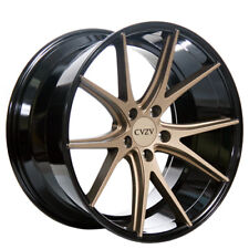 "20"" Staggered Azad Wheels AZ36 Bronze W Black Deep Concave HotDeal"