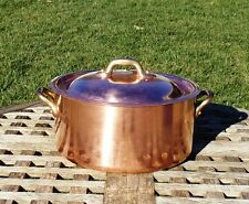 Copper 2 Qt. Round Dutch Oven w/Tin lining, 2 mm,  Made in France