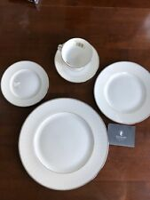 Waterford Fine China Lismore Platinum 5 Piece Place Setting