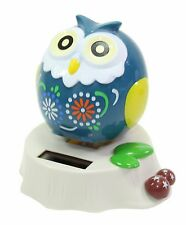 Eco-Friendly Solar Toy Owl Lover Praying Gift Home Decor Teal Owl US Seller