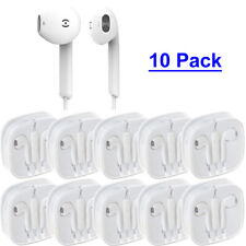 10 pcs/lot Headsets Earphones Earpiece Remote & Mic For iPhone 5 6/6s Plus iPod