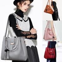 NEW 3pcs Women Leather Handbag Shoulder Bags Tote Purse Messenger Zipper Bag,