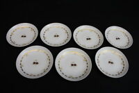 """Rare Set of 7 Vintage Rosenthal - Continental Gold CARILLON 3 3/4"""" Butter Pats"""