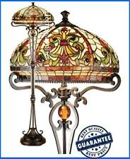 TIFFANY STYLE STAINED GLASS HANDCRAFTED FLOOR LAMPS ( IDEAL CHRISTMAS PRESENT )