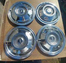 "1970 70 Ford Fairlane Galaxy Hubcaps Wheel Covers 15"" Hub Caps 4 OEM ALL METAL"