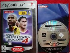 PRO EVOLUTION SOCCER 4 PLATINUM RELEASE SONY PLAYSTATION 2  PS2 PAL