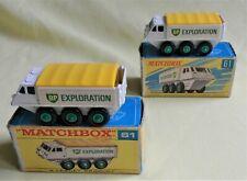 LESNEY MATCHBOX 61b ALVIS STALWART BP 'EXPLORATION' x 2 examples 1966 BOXED