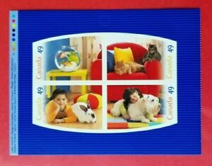 """Canada Stamp 2060a """"Pets""""  S/S  Booklet Pane of 4  2004"""
