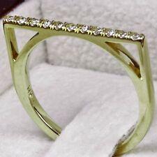 Fashion Engagement Wedding Diamond Ring White/Yellow/Rose Gold 14K