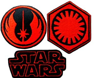 Star Wars Patch Embroidery Iron On Patches Fist Order Badge Jedi Order Applique