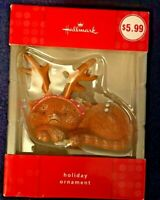 Hallmark 2009 Holiday Ornament - Unhappy Cat with Antlers - 3 X 2 ~ Brand New