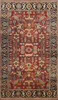 Vegetable Dye Heriz Serapi Geometric Oriental Area Rug Hand-knotted 4'x6' Carpet