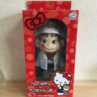 Hello Kitty x Peko chan Plush Doll Figure Sanrio Fujiya NEW Japan Free Shipping