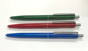Foray Retractable Ballpoint Pen Set of 3 Green Blue Red