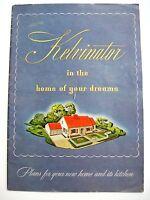 "1944 ""Kelvinator"" Brochure ""Plans for Your New Homes & It's Kitchen""  *"