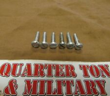 Jeep Willys M38 M38A1 M170 headlight Bezel special mounting screws NOS (S231)