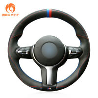 Suede Steering Wheel Cover Wrap for BMW 2//3//4 Series 328i 340i F23 F35 F45 F46