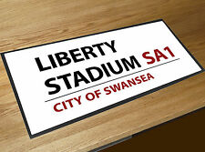 Liberty Stadium Swansea Football Street sign bar runner