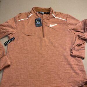 Nike Therma-Sphere 3.0 1/2 Zip Running Top Cinnamon BV4713-226 Men's