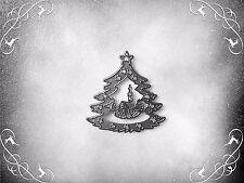 NUOVO ** Albero di Natale taglio morire CON CHIESA, stencil, metallo, Artigianato, card making