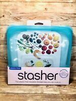 Stasher Platinum Silicone Reusable Food Bag, Medium Sandwich 450ml 15 fl oz-New!