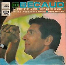 "Gilbert Becaud - L'Important C'est La Rose > Single-EP 7"" Vinyl , 4 Songs"