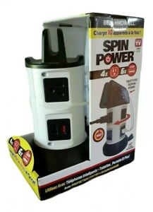 As Seen On TV BELL + HOWELL Fast Charging Tower - 4 Power Outlets, 6 USB Ports