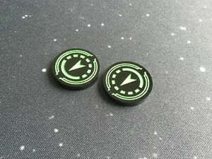 X-Wing 2.0 compatible, acrylic reinforce tokens - black series