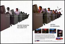 SEGA RALLY CHAMPIONSHIP__Original 1997 Print AD / game promo__Sega Racing__PC