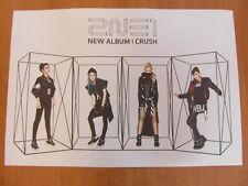 2NE1 - CRUSH (NEW ALBUM) [OFFICIAL] POSTER *NEW* K-POP