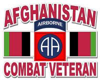 "82nd Airborne Afghanistan Combat Veteran 5.5"" Window Sticker / Decal"