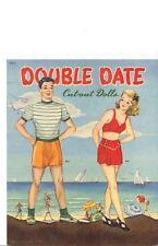 Vintage Uncut Double Date Paper Dolls Pretty Hd~Laser Reproduction~Lo Pric~Loq