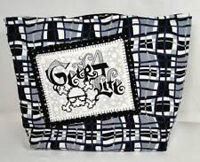 """NWT"" Hip Rad Skull & Crossbones Geek 4 Life Black & Gray Purse Tote Diaper Bag"