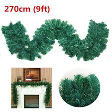 270cm 9ft Imperial Pine Christmas Garland Xmas Fireplace Stairs Mantel Decor UK