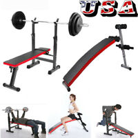 Weight /Sit up Folding Bench Fitness Exercise Workout Home Gym Training Black US
