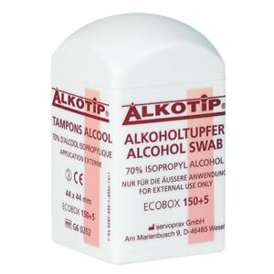 155 Alkoholtupfer in der Dispenserdose Desinfektionstücher Desinfektionsmittel