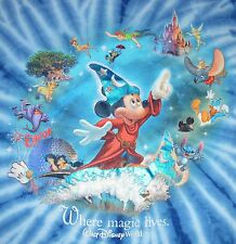 Walt Disney World - Where Magic Lives tie dye t-shirt - M Sorcerer's Apprentice