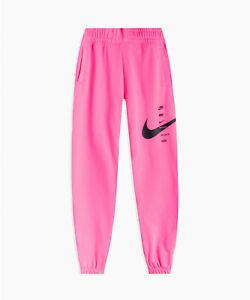 Nike Sportswear Swoosh Womens Pants Fleece Jogger Pink CU5631 607 - SIZE L