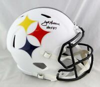 Joe Greene Signhed Pittsburgh Steelers F/S AMP Speed Helmet w/ HOF- Beckett Auth