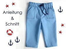 Schnitt+ Nähanleitung Tunnelzug-Hose für Babys + Kleinkinder als Ebook