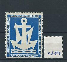 wbc. - CINDERELLA/POSTER - CF89 - EUROPE - INT.AUSSTELLUNG - BASEL - 1926
