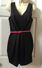 Urban Behavior Ladies Black Sleeveless V-Neck Pleated Mini Dress - Medium - NWT