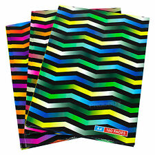 3 x Zig Zag A4 Paper Notebooks Hardback 160 Page Lined Writing Office Books Pads