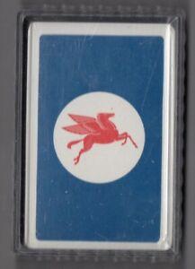 #N.022 Vintage Swap / Playing Card SEALED DECK, Advert, Mobil Oil, Pegasus, blue