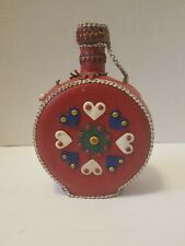 VTG Boho Home-decor leather Western Southwestern multicolor bottle Collectible