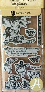 Graphic 45 Children's Hour Collection Friend Happy Birthday Child Swing Stamps